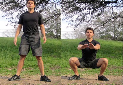 squat bodyweight exercise